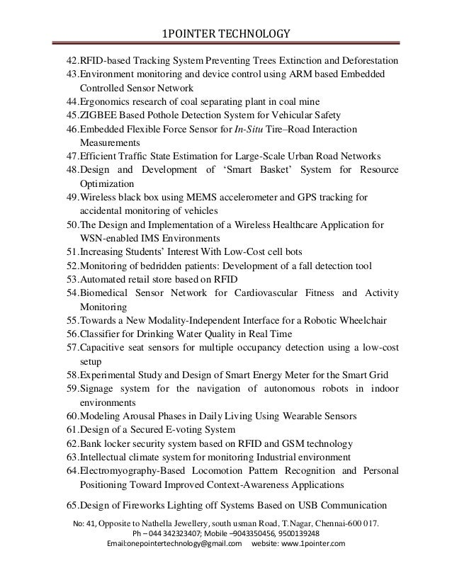 Final Year Embedded Project Titles 2013 2014