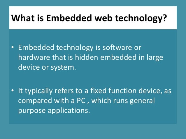 Embedded web technology marriage of web
