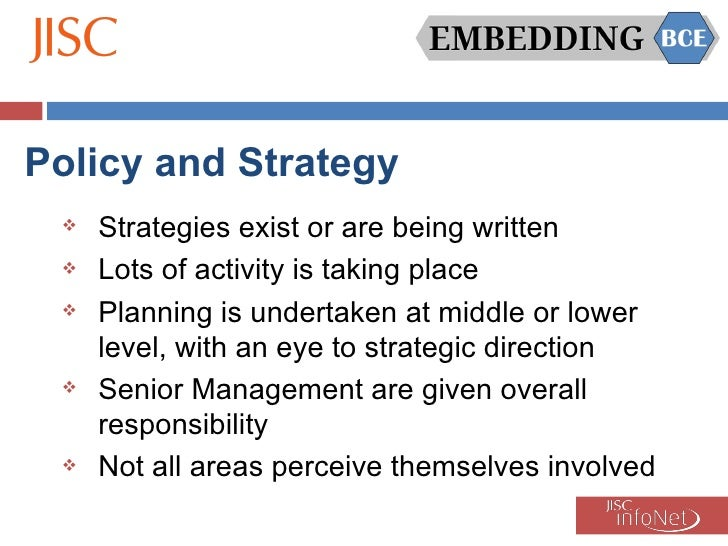 Embedding BCE - Good practice identified and emerging issues/barriers Slide 3