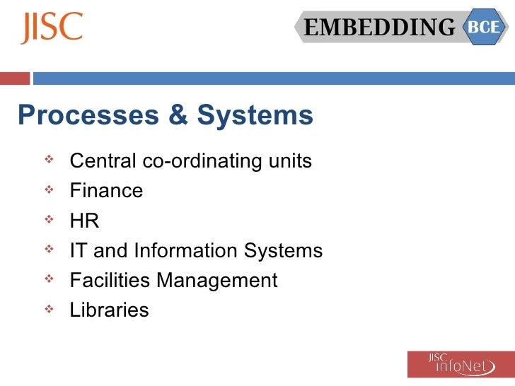 Processes & Systems <ul><li>Central co-ordinating units </li></ul><ul><li>Finance </li></ul><ul><li>HR </li></ul><ul><li>I...