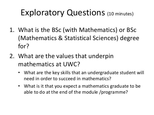 Embedding graduate attributes in a mathematics programme