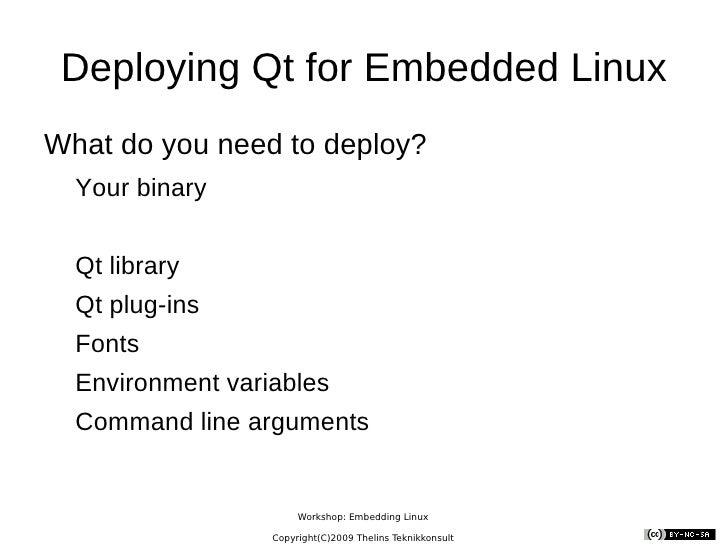 Embedding Qt