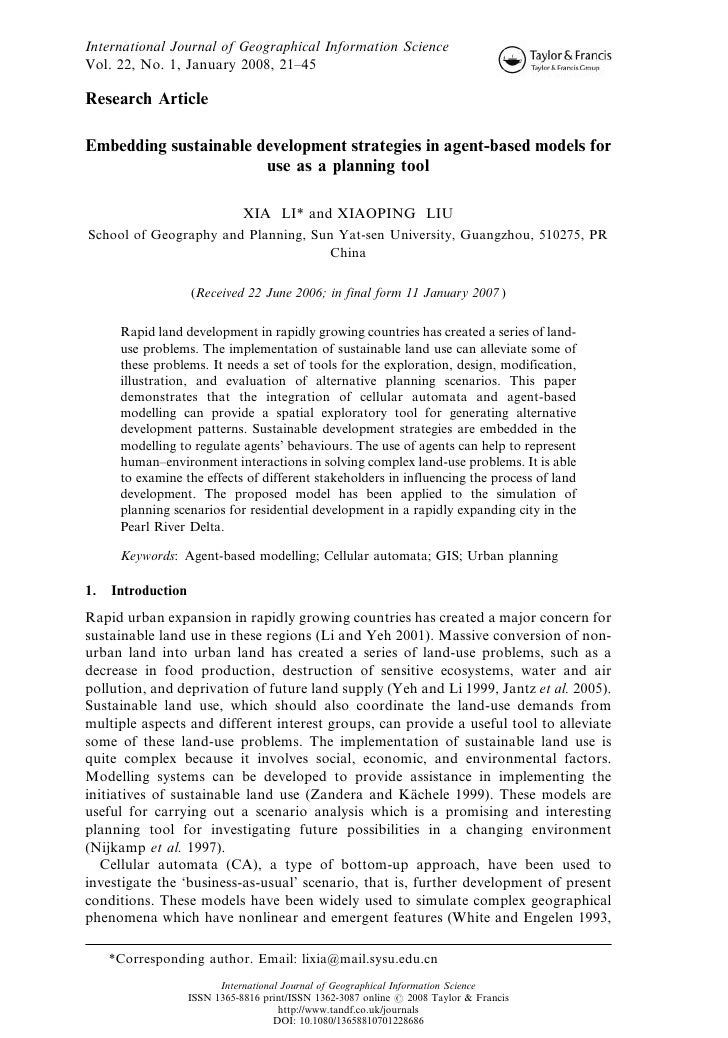 International Journal of Geographical Information Science Vol. 22, No. 1, January 2008, 21–45  Research Article  Embedding...