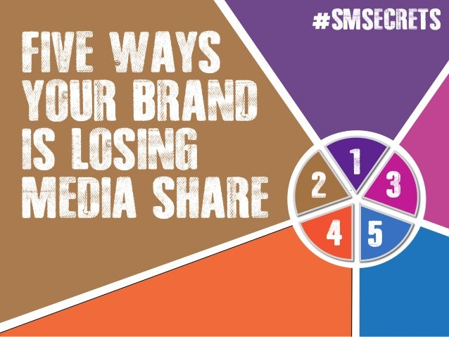 1 4 5 32 FIVE WAYS YOUR BRAND IS LOSING MEDIA SHARE #SMSECRETS