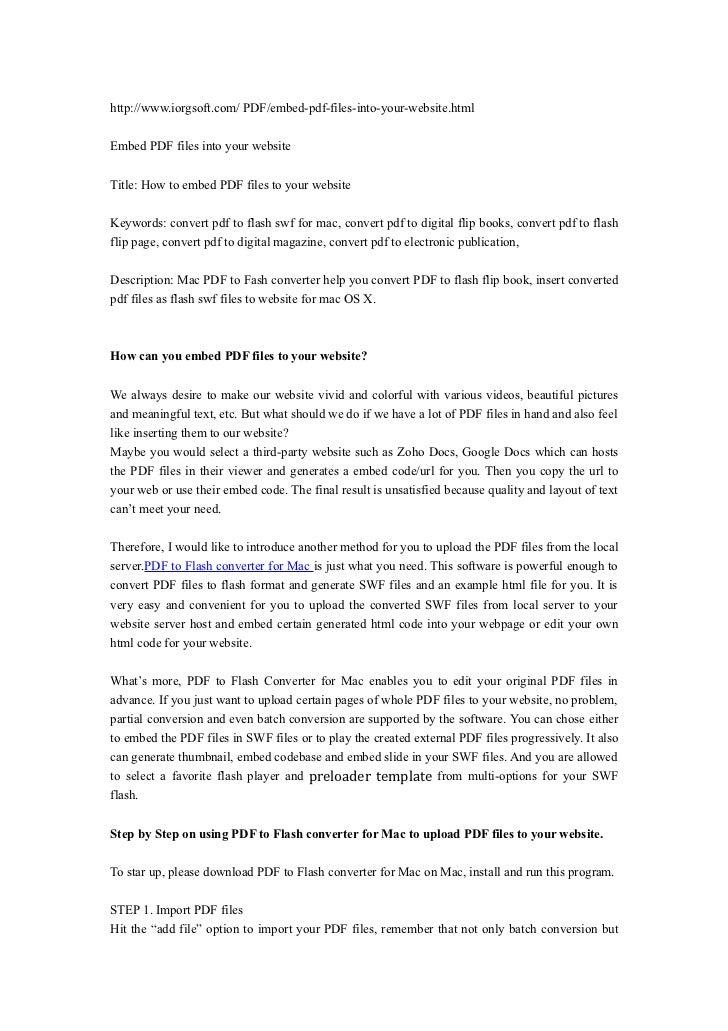 http://www.iorgsoft.com/ PDF/embed-pdf-files-into-your-website.htmlEmbed PDF files into your websiteTitle: How to embed PD...