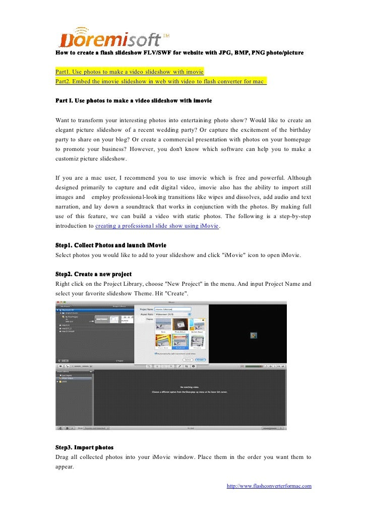 How to create a flash slideshow FLV/SWF for website with JPG, BMP, PNG photo/picture  Part1. Use photos to make a video sl...