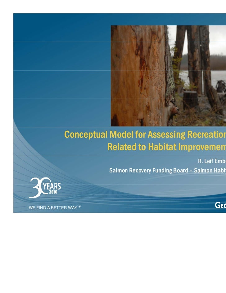 Conceptual Model for Assessing Recreational Safety                        Related to Habitat Improvement Projects         ...