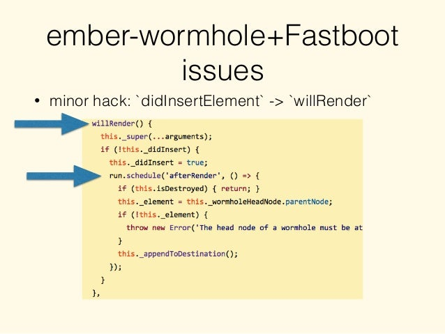 ember-wormhole+Fastboot issues • minor hack: `didInsertElement` -> `willRender`
