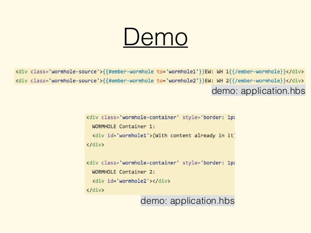 Demo demo: application.hbs demo: application.hbs