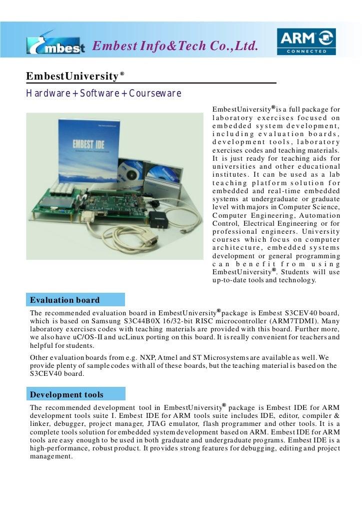 Embest Info&Tech Co.,Ltd.EmbestUniversityHardware + Software + Courseware                                                 ...