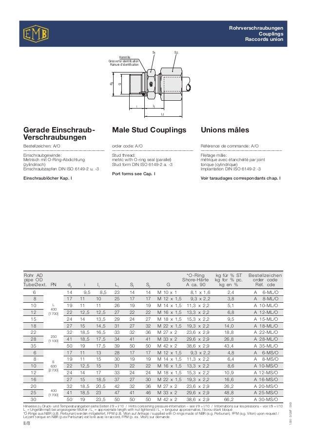 6x2 mm # 1x joint pour réducteur de pression O-ring pour 300 bar réducteur de pression