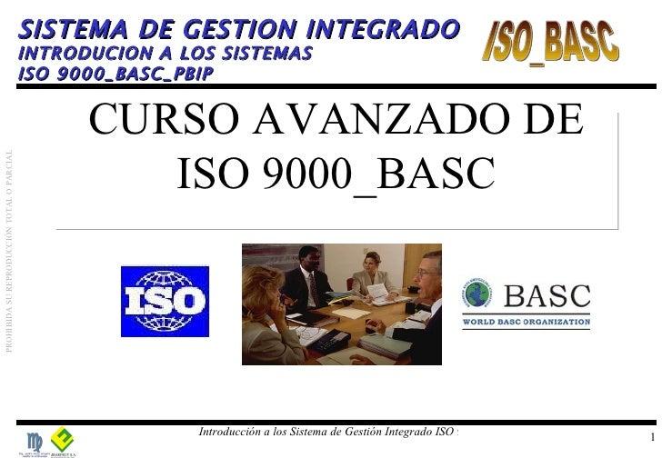 CURSO AVANZADO DE ISO 9000_BASC