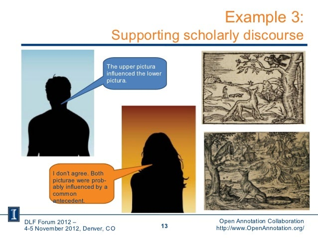 Example 3:                                Supporting scholarly discourse                            The upper pictura     ...