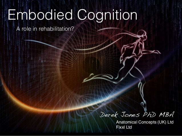 Embodied Cognition A role in rehabilitation? Derek Jones PhD MBA Anatomical Concepts (UK) Ltd Fixxl Ltd
