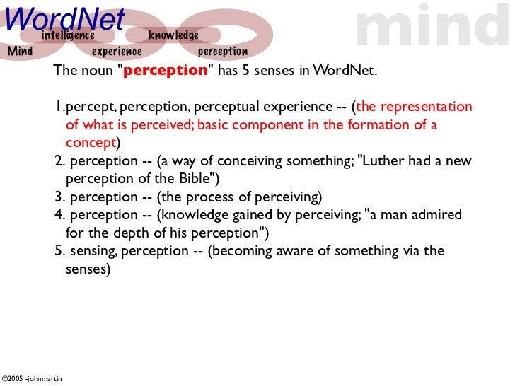 WordNet  Mind       intelligence                  experience                             knowledge                        ...