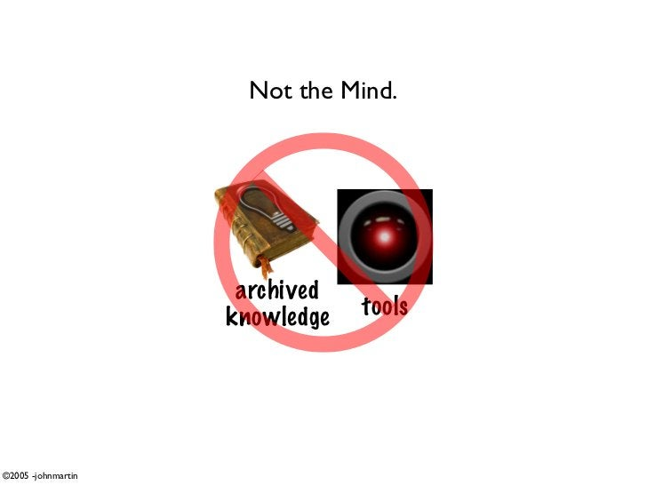 Not the Mind.                          archived                     knowledge   tools     ©2005 -johnmartin