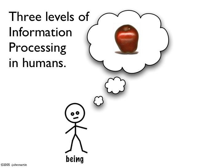 Three levels of      Information      Processing      in humans.     ©2005 -johnmartin                     being