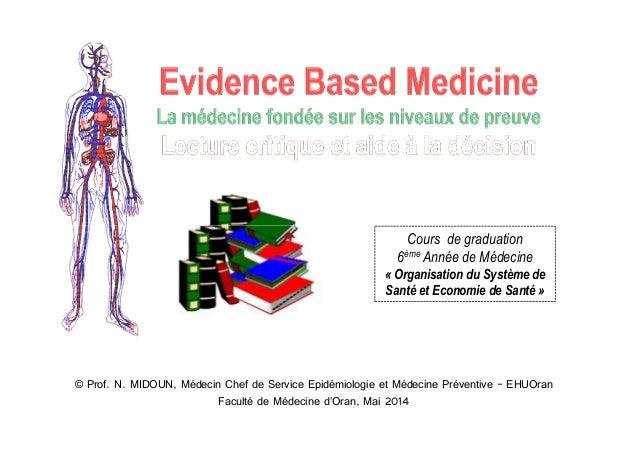 © Prof. N. MIDOUN, Médecin Chef de Service Epidémiologie et Médecine Préventive – EHUOran Faculté de Médecine d'Oran, Mai ...