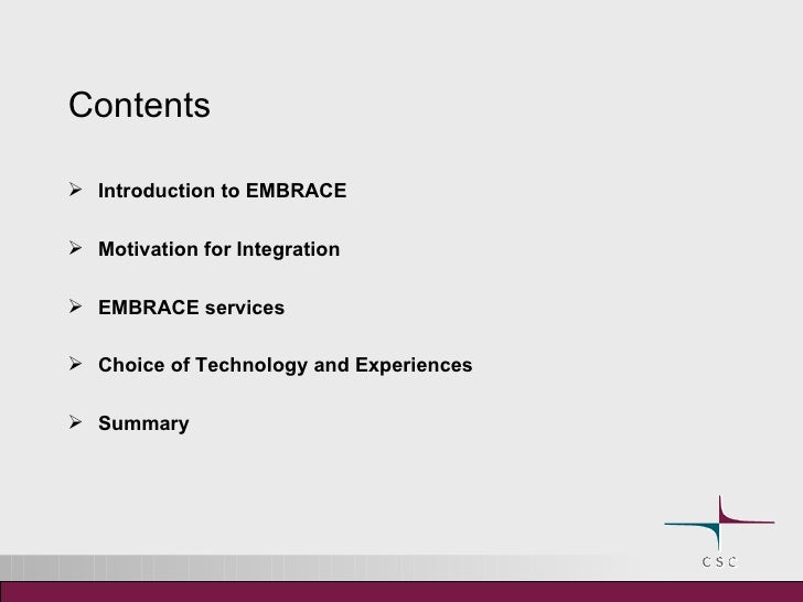 Embrace Web Services Slide 2