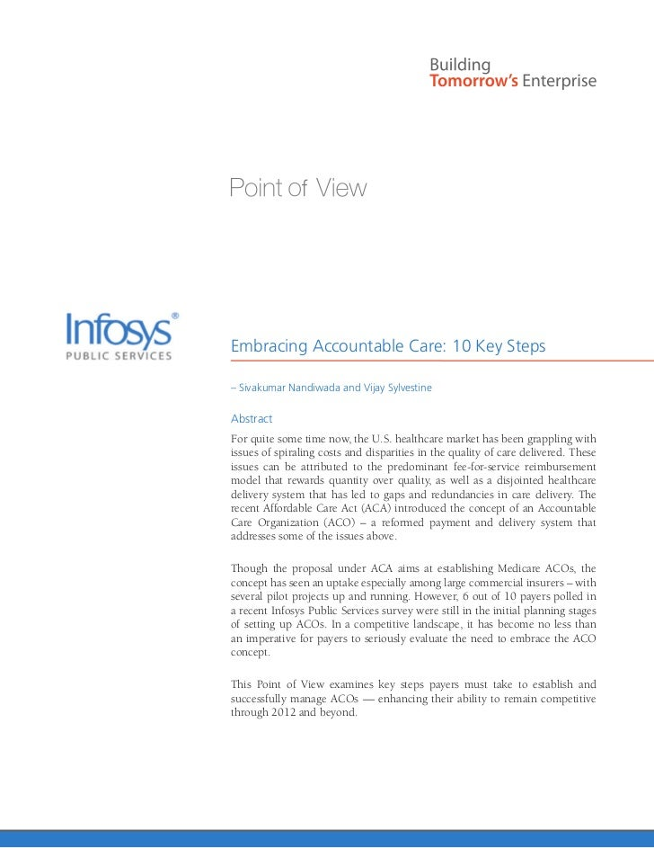 Embracing Accountable Care: 10 Key Steps– Sivakumar Nandiwada and Vijay SylvestineAbstractFor quite some time now, the U.S...