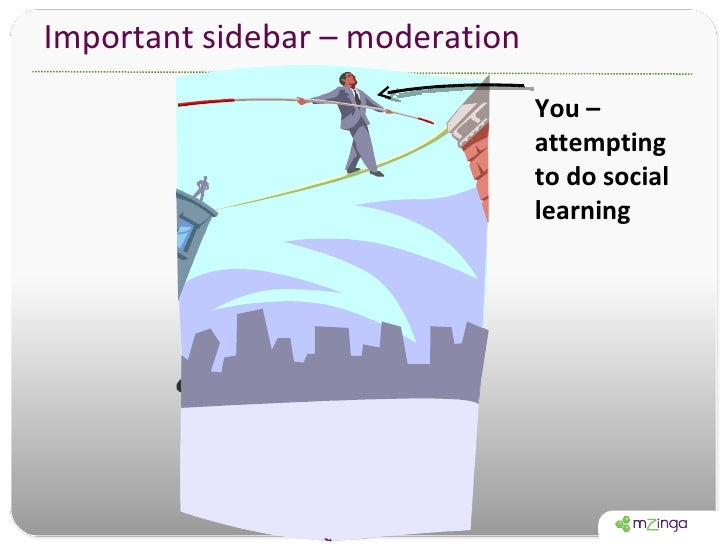 Important sidebar – moderation You – attempting to do social learning