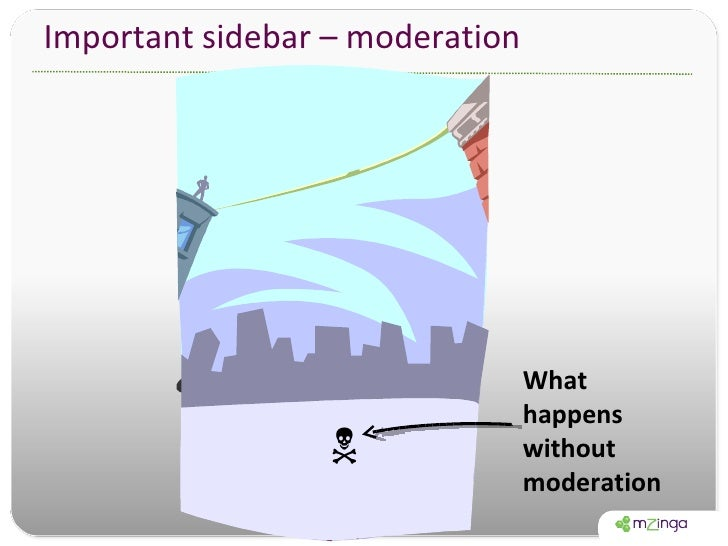 Important sidebar – moderation What happens without moderation 