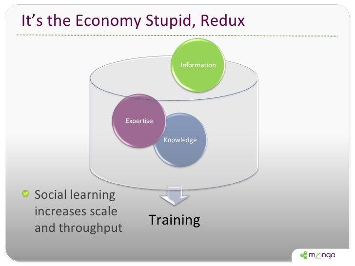 It's the Economy Stupid, Redux <ul><li>Social learning increases scale and throughput </li></ul>Training
