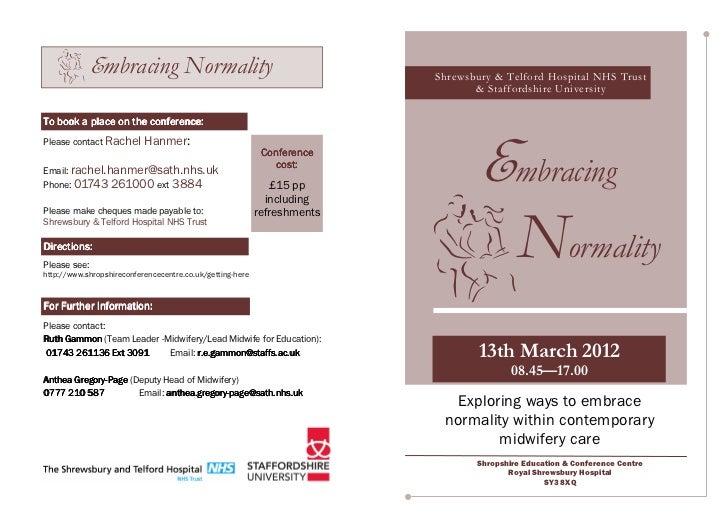 Embracing Normality                                         Shrewsbury & Telford Hospital NHS Trust                       ...