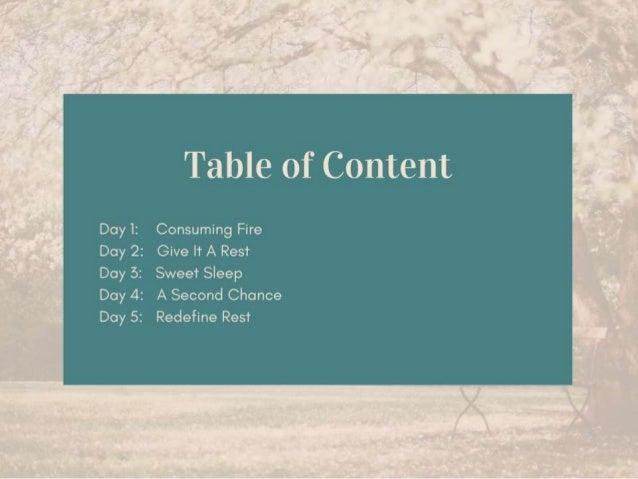 Embracing Rest - 5 Day Bible Reading Plan Slide 3