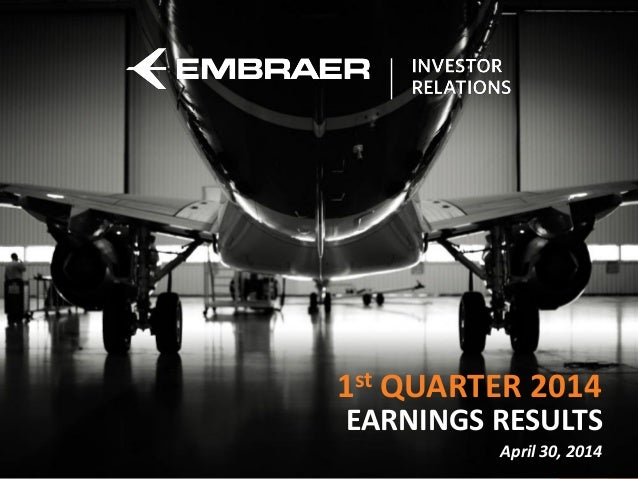 Cargo do Apresentador EARNINGS RESULTS 1st QUARTER 2014 April 30, 2014