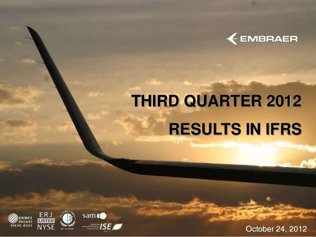 THIRD QUARTER 2012   RESULTS IN IFRS            October 24, 2012