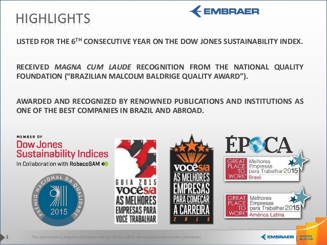 This information is property of Embraer and can not be used or reproduced without written permission.3 HIGHLIGHTS LISTED F...