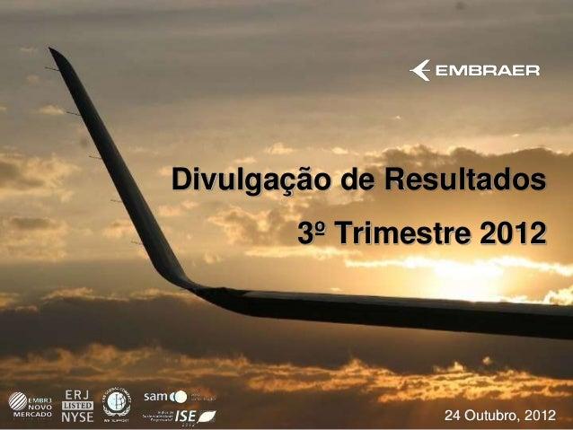 Divulgação de Resultados        3º Trimestre 2012                  24 Outubro, 2012