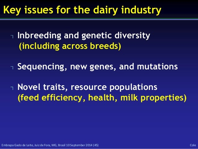 Issues related to genetic diversity