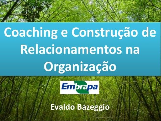 Coaching e Construção de Relacionamentos na Organização Evaldo Bazeggio