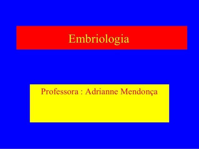 EmbriologiaProfessora : Adrianne Mendonça