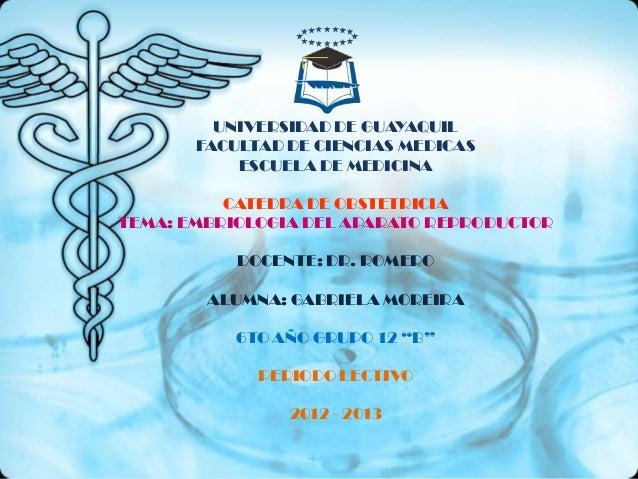 UNIVERSIDAD DE GUAYAQUIL       FACULTAD DE CIENCIAS MEDICAS           ESCUELA DE MEDICINA          CATEDRA DE OBSTETRICIAT...