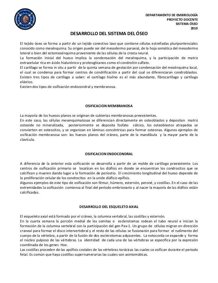 DEPARTAMENTO DE EMBRIOLOGÍA                                                                                           PROY...