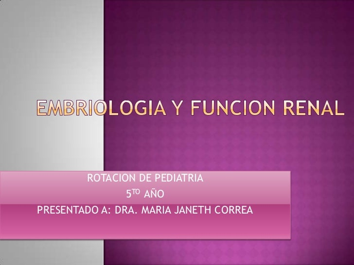 ROTACION DE PEDIATRIA                5TO AÑOPRESENTADO A: DRA. MARIA JANETH CORREA