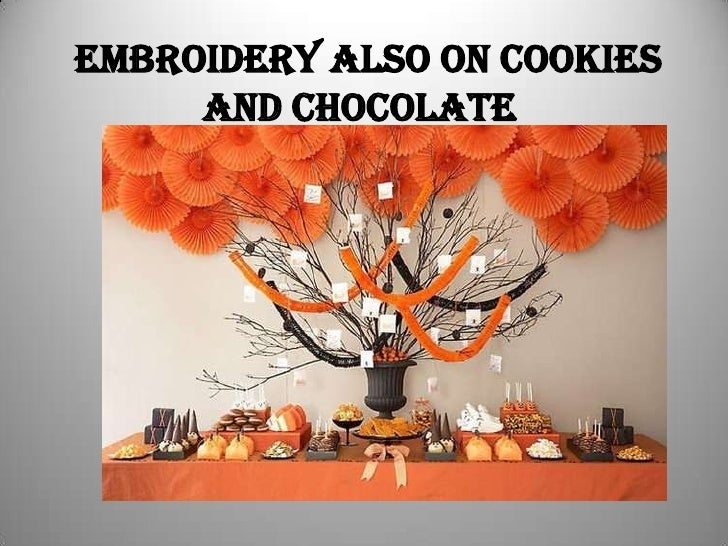 Embroidery also on cookies and Chocolate<br />