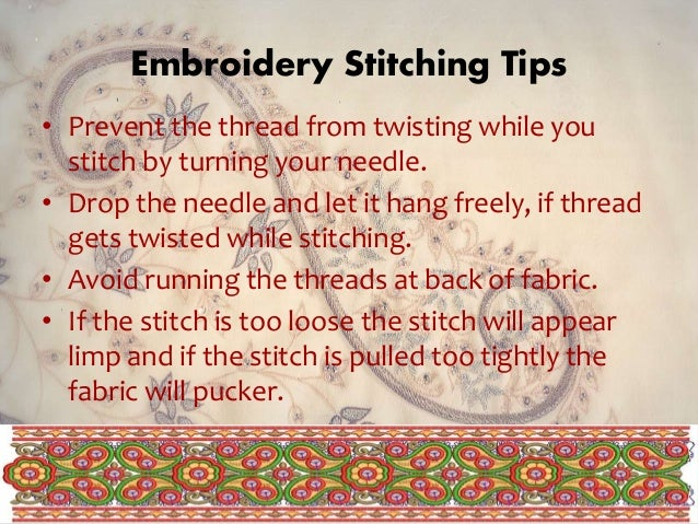 Embroidery Its Types