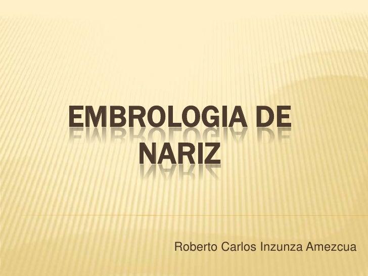 EMBROLOGIA DE    NARIZ      Roberto Carlos Inzunza Amezcua