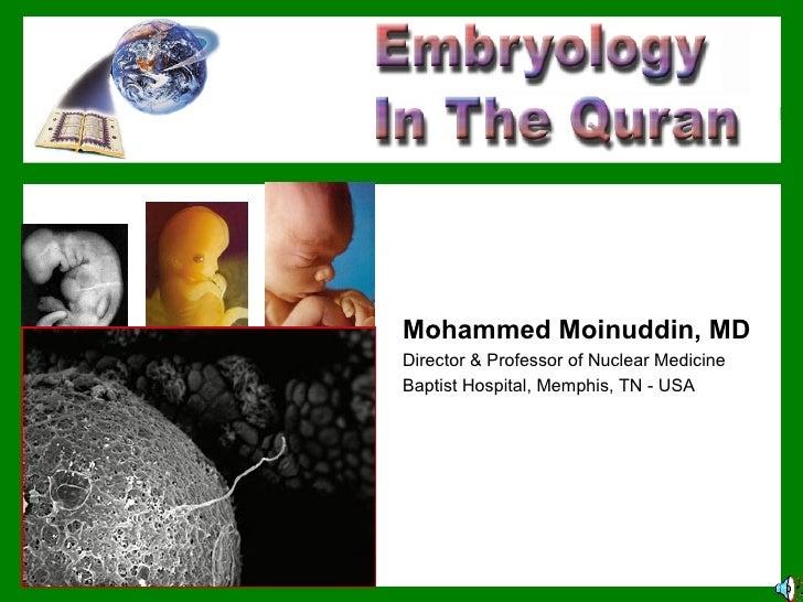 Mohammed Moinuddin, MD Director & Professor of Nuclear Medicine Baptist Hospital, Memphis, TN - USA