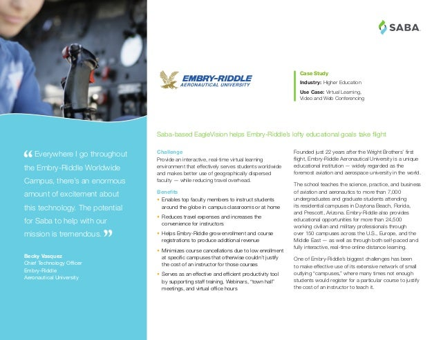® Founded just 22 years after the Wright Brothers' first flight, Embry-Riddle Aeronautical University is a unique educatio...