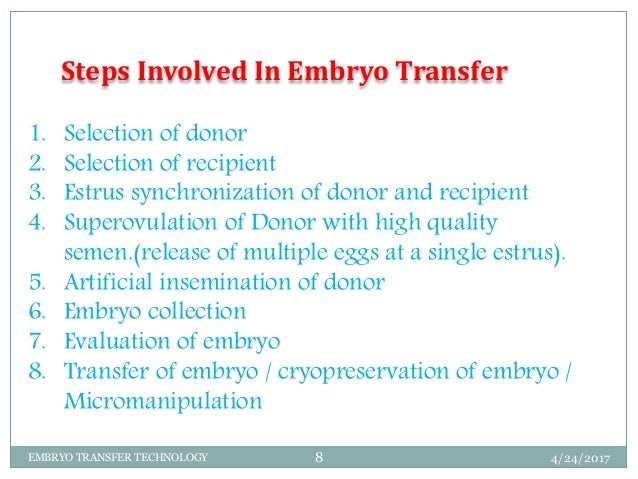 what is embryo transfer