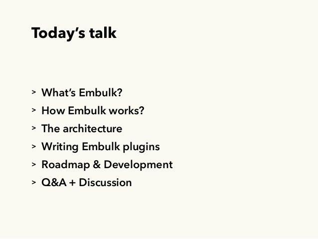 Embulk, an open-source plugin-based parallel bulk data loader Slide 3