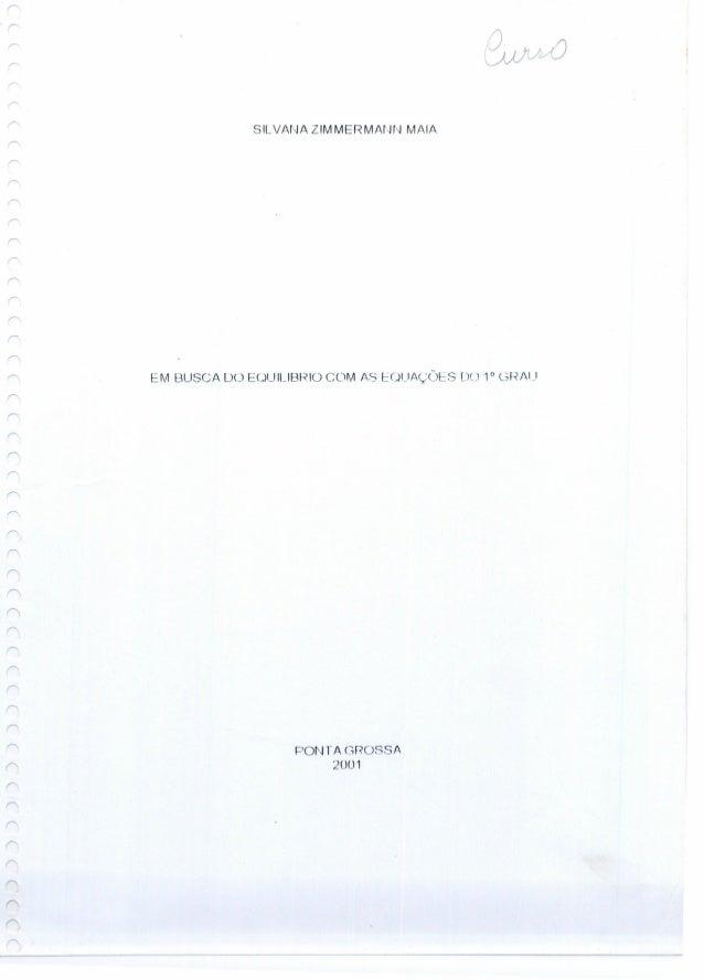 SILVANA ZIMMERMAr·Jhl MAlA EM BUSCA DO EOUILlBf~lü COM AS eOl.IAÇÜeS DU 1° C3R/U POI'~rA (:;ROSSA 20U1