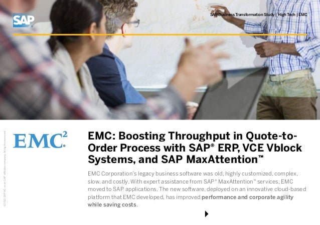 Emc Boostingthroughoutinquotetoorderprocesswithsaperpvcevb Custom Emc Quote