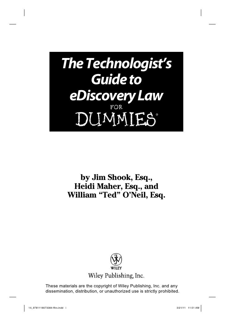 electronic discovery for dummies 10 lessons i u0026 39 ve learned