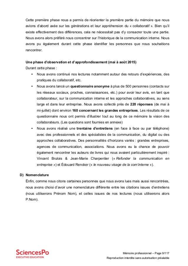 Mémoire professionnel – Page 9/117 Reproduction interdite sans autorisation préalable Cette première phase nous a permis d...